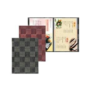 (A4 レールタイプ 4ページ仕様10ページまで増減可)レールバインダーメニューブック