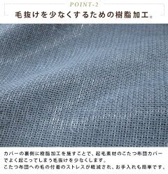 こたつ掛け布団カバー/正方形/190×190cm/ツイード柄/フランネル/樹脂加工