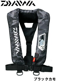 ダイワ/DAIWA DF-2007 ウォッシャブルライフジャケット ブラックカモ (肩掛けタイプ手動・自動膨脹式)