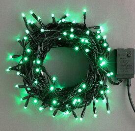 コントローラー付き100球緑色 点滅LEDイルミネーションライト/LEDグリーン色/ブラックコード/コントローラー点滅/コネクター付/(スタンダード品)