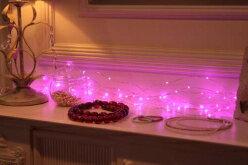 【100球ピンク色無点滅】室内ジュエリーLEDライト/LEDピンク/無点滅(コロナ産業)【HLS_DU】