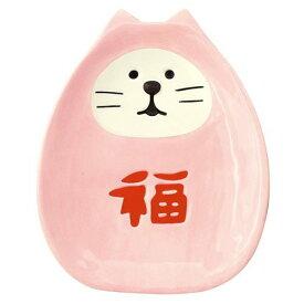 DECOLE福猫だるま豆皿 桃