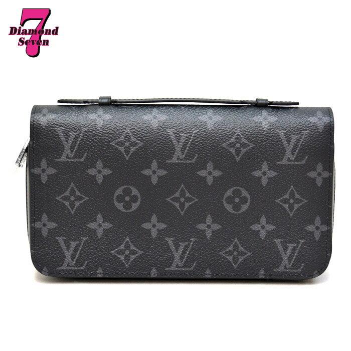 【未使用】Louis Vuitton ジッピーXL モノグラム エクリプス M61698 ラウンドファスナー長財布 メンズ *k932*