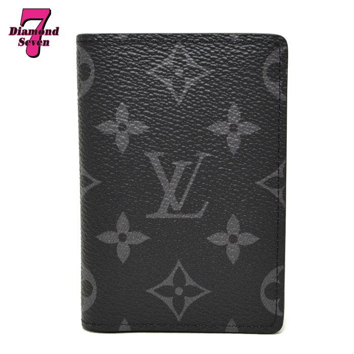 【未使用】Louis Vuitton カードケース オーガナイザー・ドゥ ポッシュ モノグラム エクリプス M61696 メンズ ブラック 黒 *k932*