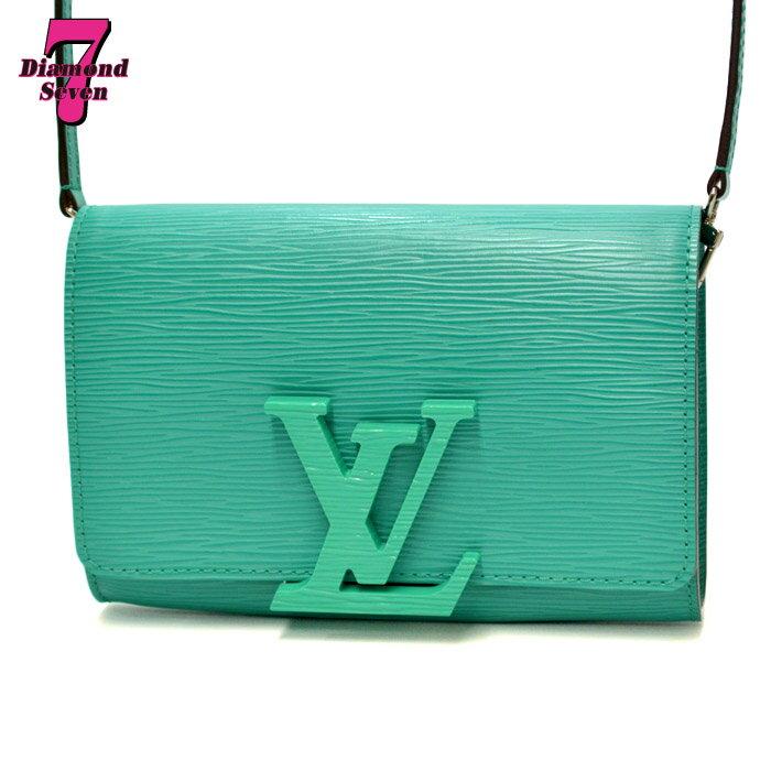 【美品】【中古】 Louis Vuitton ポシェット・ルイーズPM エピレザー テュルコワーズ(ターコイズ系) レディース 2WAYバッグ M50285 *k932*