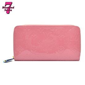 【未使用】Louis Vuitton ジッピー・ウォレット ヴェルニ ローズブラッシュ ピンク M90474 レディース *k932*