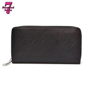 【中古】Louis Vuitton ジッピー・ウォレット エピ レザー ノワール ホットピンク ブラック 黒 M64838 レディース *k932*