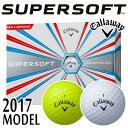 Callaway [キャロウェイ] SUPER SOFT 2017 ゴルフ ボール (1ダース:12球)