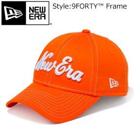 NEW ERA [ニューエラ] 9FORTY ストレッチコットン ウォッシャブル New Eraオールドロゴ ラッシュオレンジ × ホワイト 11899132
