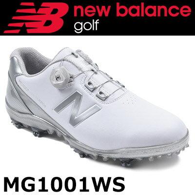 ★プレゼントキャンペーン実施中★ 【即納】 NEW BALANCE GOLF [ニューバランス ゴルフ] ボア ソフトスパイク ゴルフシューズ [ホワイト/シルバー] MG1001
