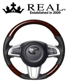 REAL STEERING オリジナルシリーズ トヨタ パッソ M710A/M700A用 カラー:ブラウンウッド (M90-BRW-BK)【ハンドル】レアル ステアリング