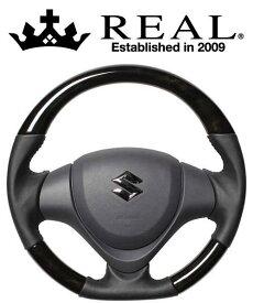 REAL STEERING オリジナルシリーズ スズキ エブリイワゴン DA17W用 カラー:ブラックウッド (MR31-BKW-BK)【ハンドル】レアル ステアリング