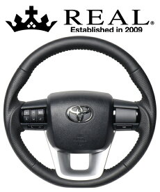 REAL STEERING オリジナルシリーズ トヨタ ハイラックス GUN125用 カラー:オールレザー (N125-LPB-SL)【ハンドル】レアル ステアリング