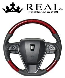 REAL STEERING オリジナルシリーズ トヨタ RAV4 PHV 50系用 カラー:レッドカーボン(TYA-RDC)【ハンドル】レアル ステアリング