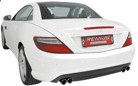 REMUS レムス SPORTS LABEL ベンツ R172 SLK200 / SLK350 左右丸ダブル(509011 0504LR)【eマーク適合品】