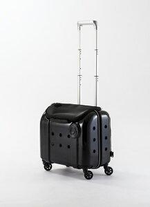 Rui&Aguri ペットキャリーケース ハードタイプ ブラック 幅40×奥行25×高さ33cm ショルダーストラップ付(PK-029) 【ペット用品】 ルイ&アグリ 黒 お出かけ 旅行ハウス 車内ケージ 犬イヌ猫ネコ用