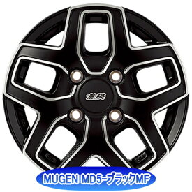 ホイール: MUGEN MD5 ホイールサイズ: 4.00B-12 タイヤ銘柄: BRIDGESTONE Ecopia R710 タイヤサイズ: 145/80R12 80/78N LT タイヤ&ホイール4本セット【12インチ】