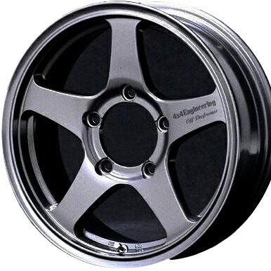 ホイール: オフパフォーマー RT-5N ホイールサイズ: 5.5J-16 タイヤ銘柄: DUNLOP GRANDTREK AT3 タイヤサイズ: 175/80R16 タイヤ&ホイール5本セット + スペアタイヤブラケット【16インチ】