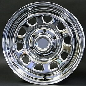 ホイール: デイトナ SS(クローム) ホイールサイズ: 7.0J-16 タイヤ銘柄: YOKOHAMA PARADA PA03(ホワイトレター) タイヤサイズ: 215/65R16 109/107S タイヤ&ホイール4本セット【16インチ】