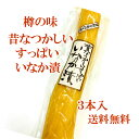 【送料無料】沢庵 樽の味 昔なつかしい すっぱいたくあん いなか漬(200g〜230g)×3本セット 無添加