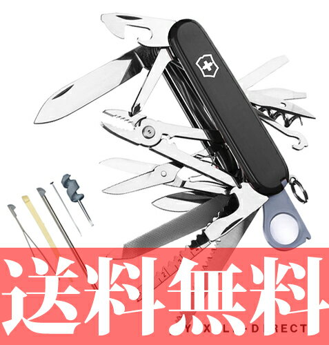 【送料無料】VICTORINOX(ビクトリノックス)スイスチャンプ ブラック(1.6795.3)【並行輸入品】