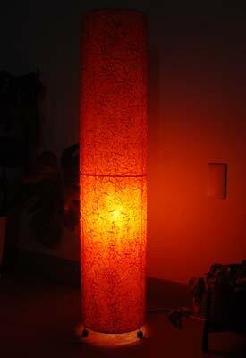間接照明 スタンドライト ♪マレッサランプ オレンジ(L)♪ 【送料無料】【ヤヤパプス】 アジアン照明 バリ おしゃれ フロアスタンド エスニック