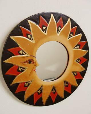 アジアン雑貨 バリ (太陽のミラー) 壁掛けミラー 鏡 エスニック リゾート