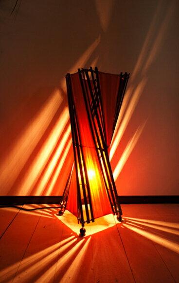 間接照明 スタンドライト おしゃれ【12月中旬入荷予定】 ♪バンブーとコットントルネードランプM50cm♪ 【送料無料】【ヤヤパプス】 アジアン照明 バリ フロアスタンド エスニック