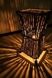 ★キャッシュレス5%還元対象★ライト 照明器具 フロアスタンドランプ 間接照明 スタンドライト フロアライト インテリア照明 おしゃれ ♪ココナツ木のランプ(S)♪ アジアン照明 バリ エスニック リゾート リビング ダイニング