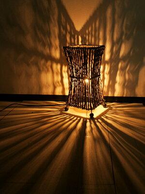 間接照明スタンドライト(ココナツ木のランプ(S))アジアン照明バリおしゃれフロアスタンドエスニックリゾート