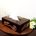 アジアン 雑貨 バリ ♪リーフ柄ティッシュBOX♪ 【YAYAPAPUS】 ティッシュボックス ティッシュケース 木製 エスニック