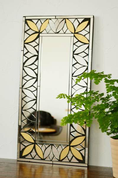 ★20%OFFサマーセール★アジアン雑貨 バリ (マーテルミラー(ゴールドA)) 壁掛け 鏡 ミラー エスニック リゾート