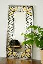 アジアン雑貨 バリ ♪マーテルミラー(ゴールドA)♪ 【YAYAPAPUS】 壁掛け 鏡 ミラー エスニック