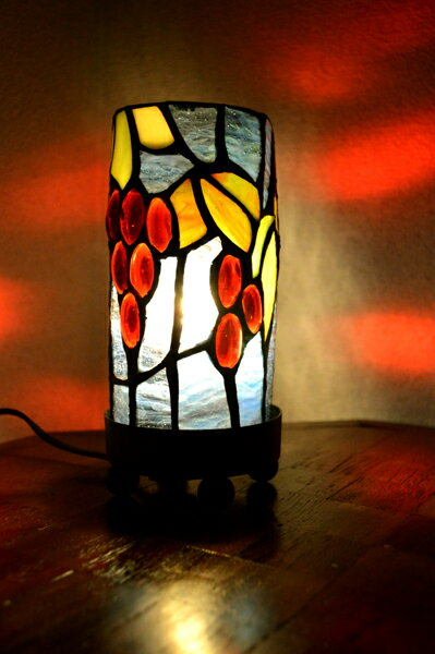 間接照明 スタンドライト ♪ステンドグラスランプ(葡萄柄)♪ 【YAYAPAPUS】 アジアン照明 バリ おしゃれ フロアスタンド エスニック