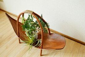 アジアン雑貨 バリ (ラタンアーチのヤシリーフトレイ(1段ナチュラルカラー)) トレイ 小物入れ 花器 プランター エスニック リゾート