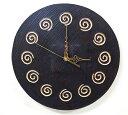 アジアン雑貨 バリ ♪スパイラル壁掛け時計♪ 【YAYAPAPUS】おしゃれ インテリア エスニック ウォールクロック 丸 円形