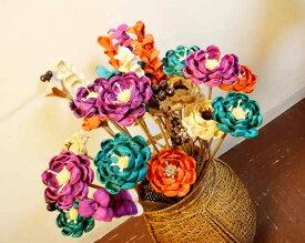 アジアン バリ 雑貨 ♪バリ島のナチュラルフラワー造花♪ おしゃれ インテリア エスニック 造花 ナチュラル素材