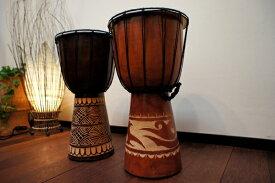 アジアン雑貨 バリ (スカルプジャンベ(M)) アジアン雑貨 ジャンベ インテリア 楽器 置物 オブジェ 木製 エスニック リゾート
