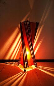 9月中旬入荷予定ライト 照明器具 フロアスタンドランプ (バンブーとコットントルネードランプM50cm) 間接照明 おしゃれ スタンドライト アジアン照明 バリ エスニック リゾート