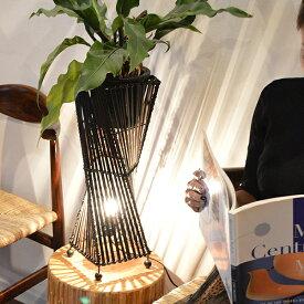 スタンドライト フロアライト 照明器具 インテリア照明 フロアスタンドランプ ♪バンブートルネードランプM50♪ 間接照明 アジアン照明 アジアンランプ バリ風インテリア エスニック リゾート 花台 リビング ダイニング 寝室