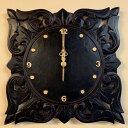 アジアン バリ 雑貨 ♪リースト彫刻壁掛け時計♪ おしゃれ インテリア エスニック ウォールクロック 壁飾り