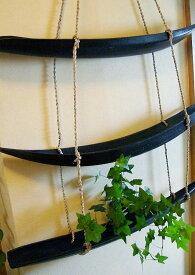 アジアン雑貨 バリ (壁掛け3段ヤシトレイ(ブラックorナチュラル)) 壁掛け収納 小物入れ リーフトレイ ヤシトレー エスニック リゾート