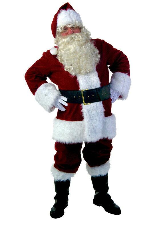 サンタ コスプレ【メンズ サンタクロース 衣装 豪華9点セット】クリスマス コスチューム 男性用 サンタの服 服 仮装グッズ コスプレ大きいサイズ 大人用 クリスマスプレゼント