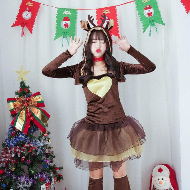 トナカイ コスチューム サンタ 衣装 クリスマス コス 着ぐるみ トナカイさん かぶりもの クリスマス サンタ ケープ カチューシャ トナカイコスプレ ハッピートナカイ おもちゃ・ホビー・ゲーム レディースサンタクロース