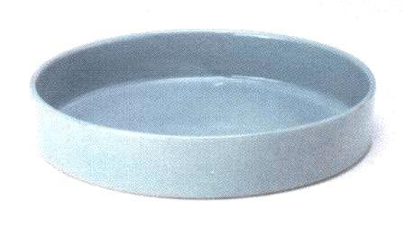 花器 西山-112 径340mm高さ62mm 陶器製 水盤 生け花 いけばな 花瓶 華道用花器