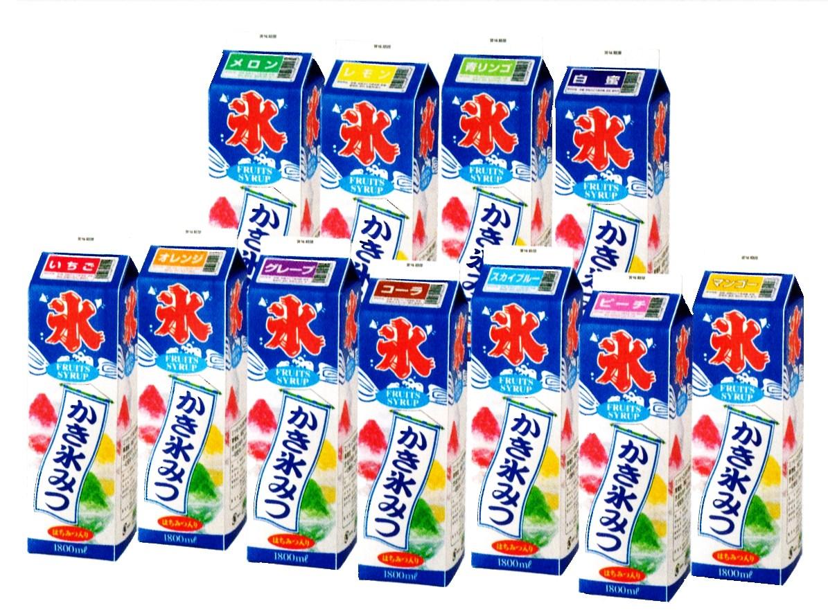 かき氷シロップ 業務用 1800ml カキ氷 50杯分 12種 類 蜜元(ミツモト)研究所製