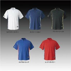 【左片胸2重ネーム刺繍】 デサント ベースボールシャツ 立衿 2ボタンタイプ DB109B