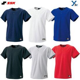 SSK エスエスケイ ベースボールシャツ 2ボタン ベースボールTシャツ BW1460