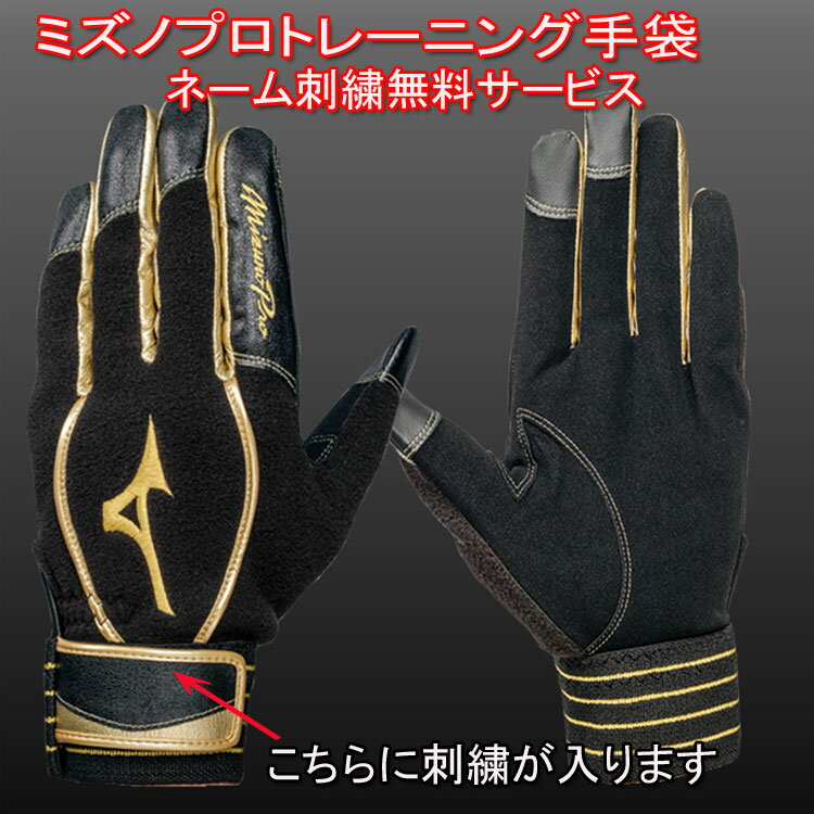 【送料無料(メール便配送)】【ネーム刺繍サービス】 NEWモデル ミズノプロトレーニング 手袋 ※代引きの場合は送料がかかります