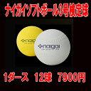 お買い得!!ナイガイソフトボール3号検定球1ダース(12球セット)